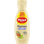 Prima mayonesa light 40% calorias envase de 40cl.