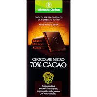 Oxfam chocolate negro 70% tableta de 100g.