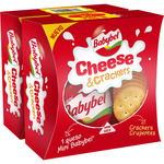Babybel mini cheese & crackers un queso crackers crujientes envases de 40g. por 2 unidades