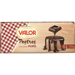 Valor chocolate puro postres tableta de 200g.