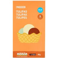 Eroski tulipas de 75g. en caja