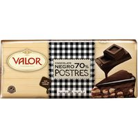 Valor chocolate 70% postre tableta de 200g.