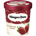 Häagen Dazs strawberries & cream helado crema fresa con trozos fresa de 50cl. en tarrina
