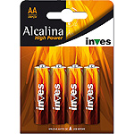 Power inves high pila alcalina aalr6 1 5 voltios blister por 4 unidades