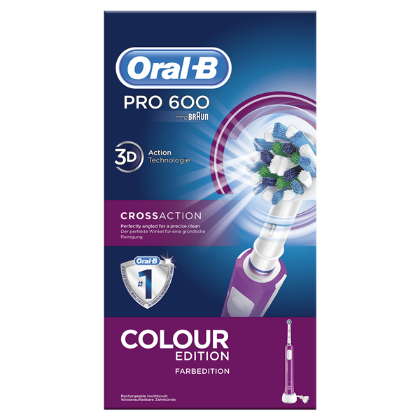 Oral B braun cepillo dental electrico cross action pro 600 morado blister blister