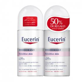 Eucerin desodorante roll on ph5 pieles sensibles de 50ml. por 2 unidades