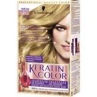 Tinte rubio natural n.7 keratin color en caja