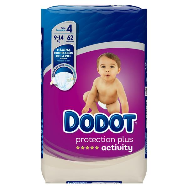 Dodot Activity dodot protection plus activity talla 4 9-14kg 2x62 62
