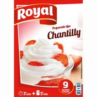 Royal chantilly de 72g. en caja