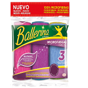 Bayetas multiusos microfibras collection colores surtidos 3 ud