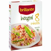 Brillante arroz integral coccion 8 minutos de 750g. en caja