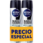 Nivea Men nivea for men hombre desodorante black & white invisible antitranspirante antimanchas blancas de 20cl. por 2 unidades en spray