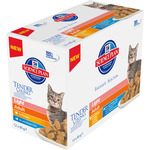 Hill's hill?s science plan adult alimento light para gatos adultos s variadas de pollo y pescado de 85g. por 12 unidades en tarrina