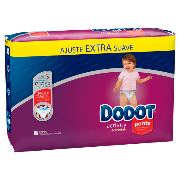 Dodot Pants dodot activity pants extra t5 40 pañales 40 en paquete