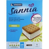Mini sandwich nata eroski sannia, 10 ml 50