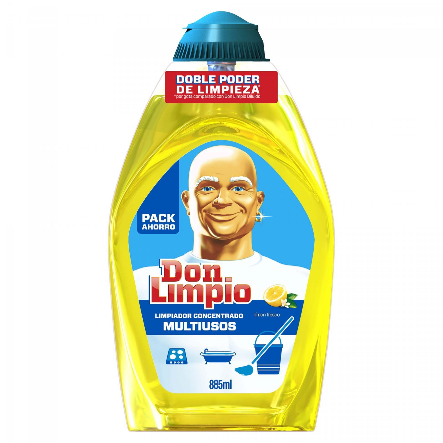 Don Limpio limpiador en gel concentrado limon fresco de 88,5cl. en botella