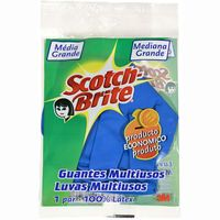 Scotch Brite guantes multiusos latex talla mediana par