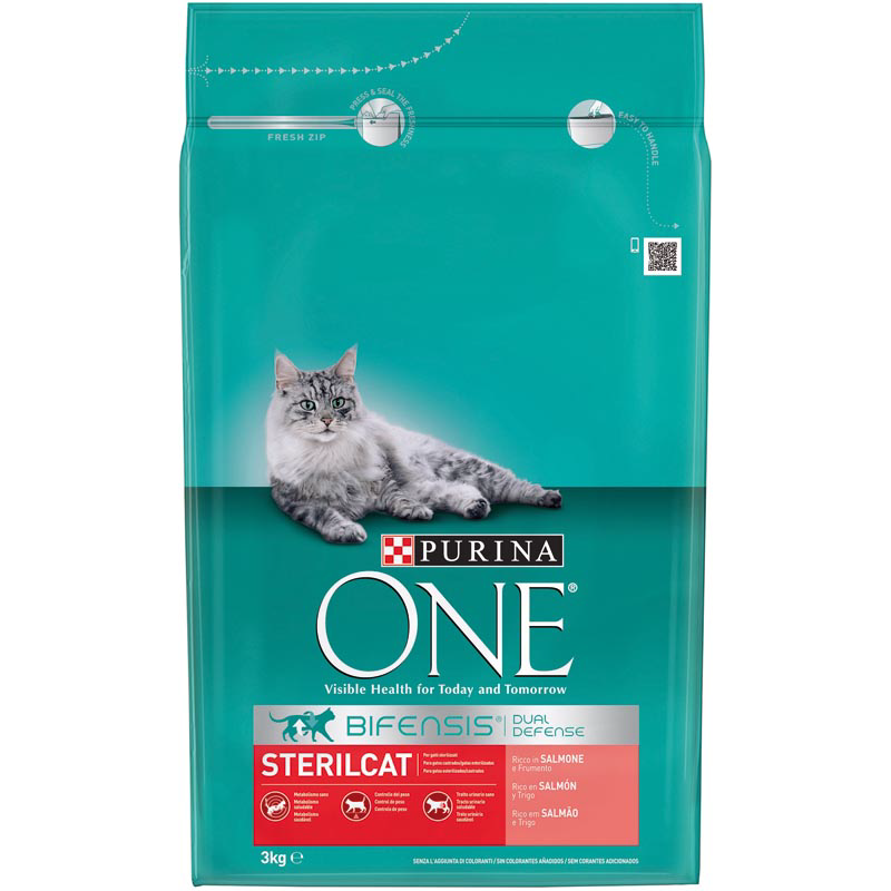 Purina One digestion sensible alimento especial gatos con salmon arroz de 3kg. en paquete