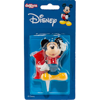 Nº 1 display velas mickey 6 5cm