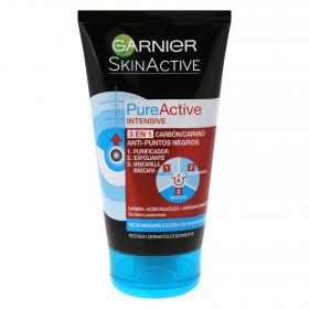 Garnier gel pure active 3 en 1 carbon antipuntos negros de 50ml.
