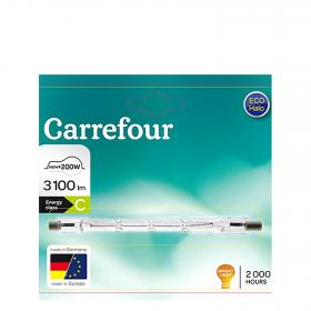 Carrefour bombilla halogena eco lineal 160w con dos casquillos r7s