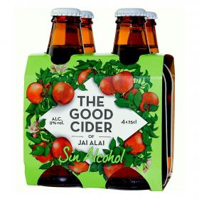 Sidra de manzana sin alcohol the good cider de 25cl. por 4 unidades