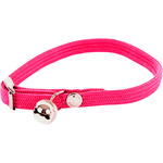 Martin sellier collar gatos nailon elastico color rosa medidas 10 mm 30 cm
