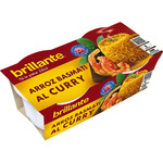 Brillante arroz al curry cocido guarnicion envases de 125g. por 2 unidades
