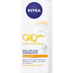 Nivea q 10 plus contorno ojos antiarrugas roll on tubo de 10ml.