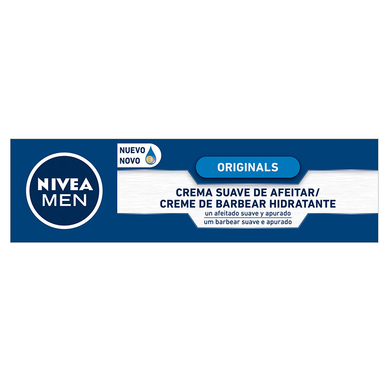 Nivea Men nivea for men hombre crema afeitar suave piel normal seca tubo de 10cl.