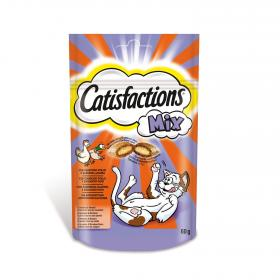 Catisfactions snacks gatos mix con pollo pato catisfaction de 60g.
