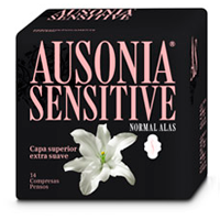 Ausonia compresa absorcion normal ultra plegada alas sensitive 14
