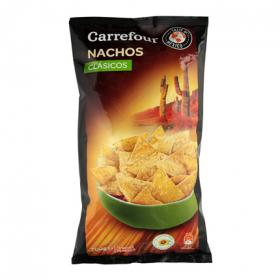 Carrefour tortillas chips tex mex con sabor natural de 200g.