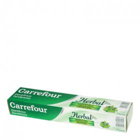 Carrefour dentifrico herbal de 75ml.