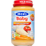 Hero Baby tarrito pollo con arroz 100% natural envase de 235g.