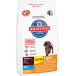 Hill's Science plan adult mini light alimento especial perros adultos raza mini con pollo menos grasa de 2,5kg. en bolsa