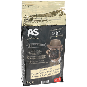 As as selection alimento para perros mini rico en salmón de 2kg. en bolsa