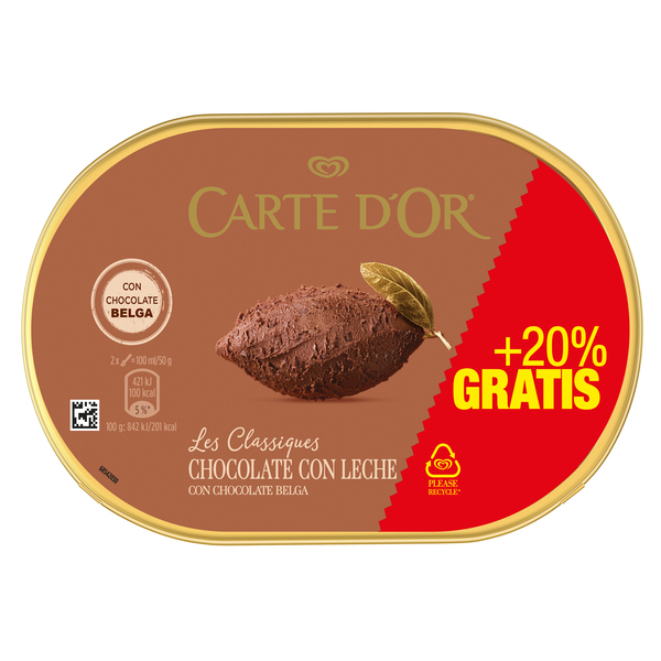 Carte D'or cdo chocolate 1,5l de 1,5l. en tarrina