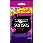 Trident senses berry party chicles sin azucar 14 por 2 unidades