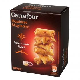Carrefour galleta salada sabor pizza de 100g.