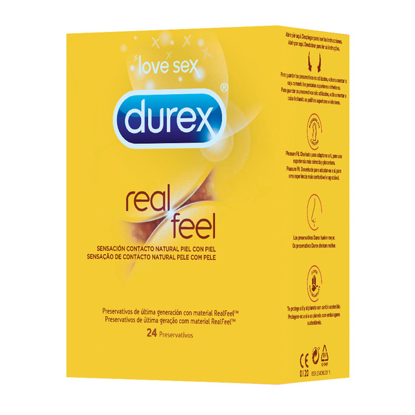 Durex preservativos real feel ultra sensitive por 24 unidades en caja