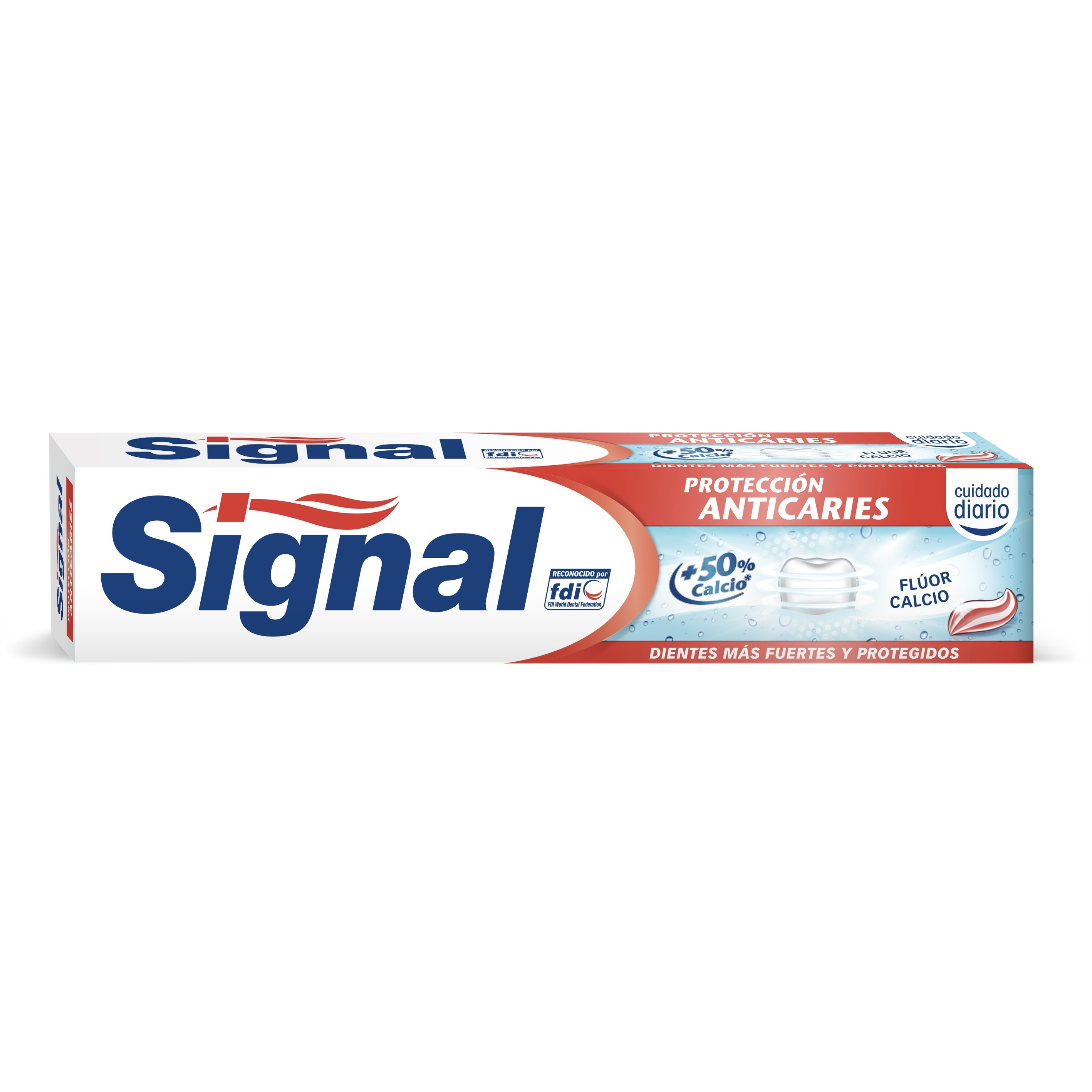 Signal pasta dentifrica proteccion anticaries fluor calcio tubo de 75ml.