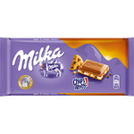 Milka chocolate relleno galletas chips ahoy tableta de 100g.