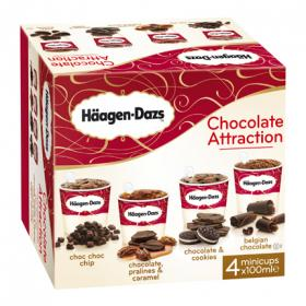 Häagen Dazs helado chocolate attraction por 4 unidades