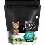 Purina Pro Plan puppy small alimento formulado una higiene dental total cachorros raza mini con pollo envase de 700g.