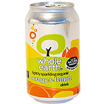 Whole Earth refresco naranja limon sin azucar ecologico envase de 33cl.