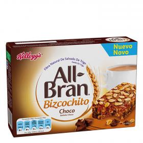 Kelloggs bizcochito chocolate all bran de 40g. por 6 unidades
