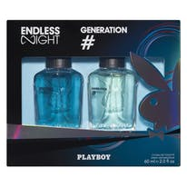 Playboy lote hombre eau toilette vaporizador endless night generation ***novedad*** de 60ml.