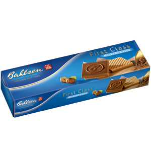 Bahlsen first class galletas barquillo con chocolate estuche de 125g.