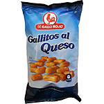 El Gallo Rojo snack gallitos al queso de 175g. en bolsa